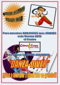 Cartel DANZA-DIVER Verano´15